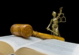Book, Gavel, and Scales of Justice